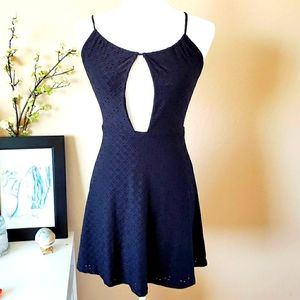 Noble u little black dress with open front